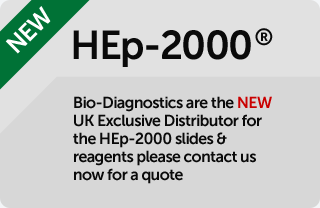 Biodiagnostics are the new UK Exclusive Distributor for the HEp-2000 slides